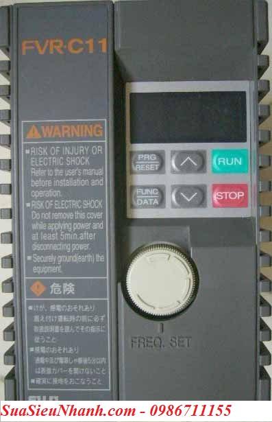Biến tần FUJI FVR0.75C11S-2 0.75 KW Hãng SX: FUJI Model: FVR0.75C11S-2 Input: 3PH 220VAC Output: 3PH 220VAC Power: 0.75KW Tình Trạng: Còn Hàng
