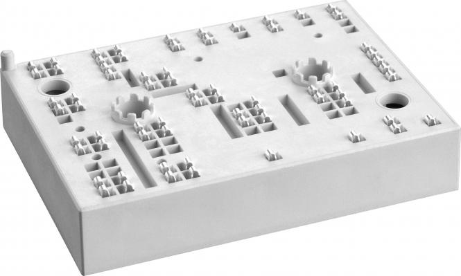 SKiiP 34NAB176V3 MiniSKiiP® 3 3-phase bridge rectifier + brake chopper + 3-phase bridge inverter VCES 1700 V ICnom 58 A Part Number: 25231900 Net unit weight: 0.082 kg Tariff Number: 85412900 Country of Origin: Germany Manufacturer: SEMIKRON