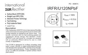 FR120N N-Mosfet 9.4A/100V