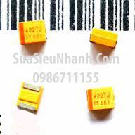 Tên hàng: 10616V Tụ tantalum đen 10UF 16V 1210;  kiểu chân: dán 1210;  mã hàng: B3528_10616V;  Hãng sx: NEC