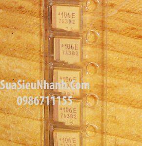 Tên hàng:106E Tụ tantalum vàng 10UF 25V 1210;  mã hàng: B3528_106E;  Kiểu chân: dán 1210