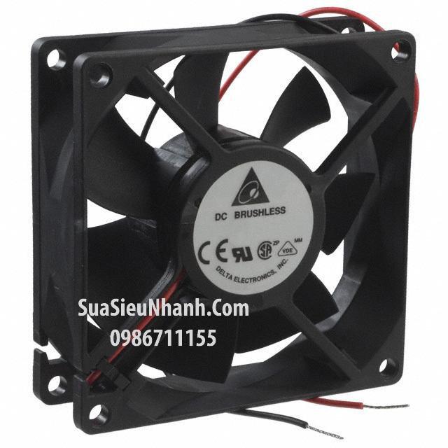 Tên hàng: AFB0824M 8025 Quạt tản nhiệt 2 dây Delta 24VDC 0.1A 80x25mm; Mã hàng: AFB0824M; Hãng SX: Delta; Dùng cho: Vật tư biến tần
