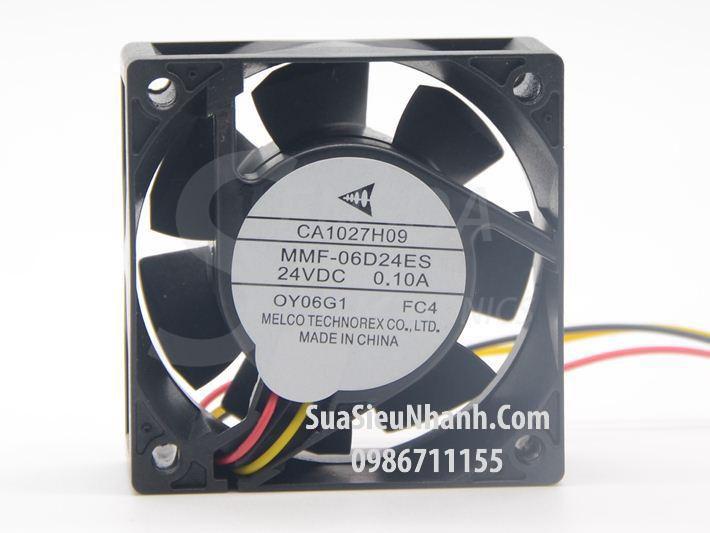 Tên hàng: MMF-06D24ES-FC4 Quạt tản nhiệt MELCO 24VDC 0.10A 6025 60x60x25mm cũ; Mã: MMF-06D24ES-FC4_OLD; Hãng SX: MELCO; Dùng cho: Vật tư biến tần;