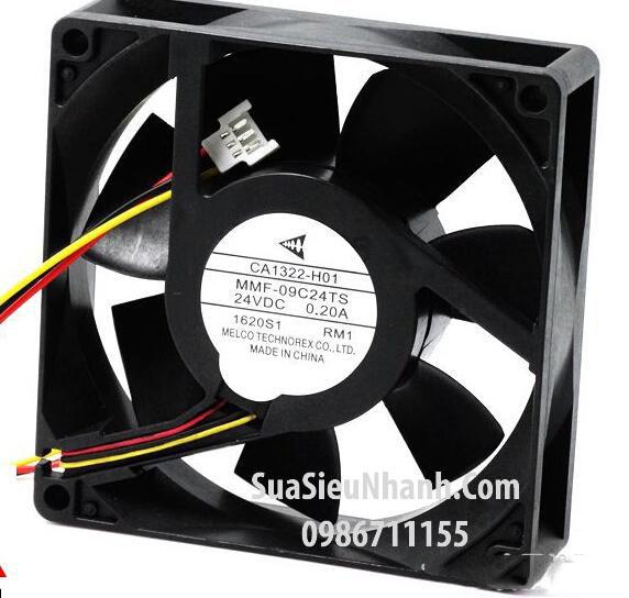 Tên hàng: MMF-09D24TS-RM1 Quạt tản nhiệt MELCO 24VDC 0.19A 9025 90x90x25mm cũ; Mã: MMF-09D24TS-RM1_OLD; Hãng SX: MELCO; Dùng cho: Vật tư biến tần