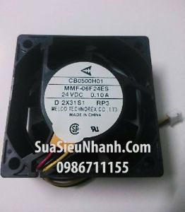 Tên hàng: MMF-06F24ES Quạt tản nhiệt 3 dây MELCO 24VDC 0.10A 6025 60x60x25mm cũ;  Mã hàng: MMF-06F24ES_OLD  Hãng SX: MELCO;  Dùng cho: Vật tư biến tần; Vật tư servo;