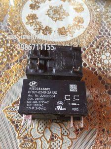 Tên hàng: HF92F-024D-2A11S Relay 24VDC 30A 275VAC;  Mã: HF92F-024D-2A11S
