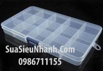Tên hàng: Hộp Nhựa Đựng Linh Kiện 15 Ngăn; Mã: HLK15; Dùng cho: Vật tư dụng cụ - Tools
