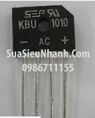 Tên hàng: KBU1010 Diode cầu chỉnh lưu 10A 1000V dẹt chân cắm tròn;  Mã: KBU1010;  Hãng sx: SEP;  Hàng tương đương: KBP1010