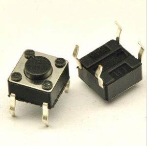 Tên hàng: Nút bấm 6x6x4.3mm; Kiểu chân: cắm 4pin; Mã: KEYPAD6x6x4.3