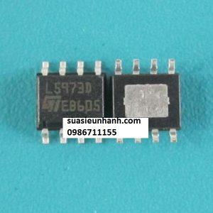 Tên hàng: L5973D IC Nguồn Switching 2A; Kiểu chân: dán SOP-8; hãng sx: ST; Mã hàng: L5973D; Dùng cho: Vật tư PLC