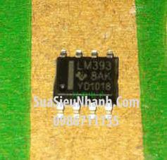 Tên hàng: LM393 SOP8 3.9mm IC thuật toán COMPARATOR DUAL DIFF;  Mã: LM393_SOP8;  Kiểu chân: dán SOP-8;  Hãng sx: TI;  Hàng tương đương: LM393DR, A393F
