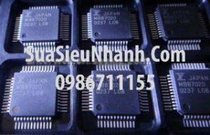 Tên hàng: MB87020 16 Bit A/D and D/A Converter;  Kiểu chân: dán QFP48;  Mã hàng: MB87020;  Hãng sx: FUJI;  Tag: MB87020 DATASHEET - 16 Bit A/D and D/A Converter