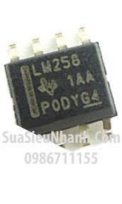 Tên hàng: LM258 LM258DR IC thuật toán; kiểu chân: dán SOP-8; hãng sx: TI