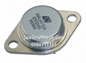 Tên hàng: 2N3055 TO3 NPN Transistor 15A 60V;  Mã: 2N3055;  Kiểu chân: cắm TO-3;  Thương hiệu: ST;  Phân nhóm: NPN Transistor
