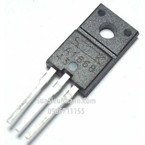 Tên hàng: A1668 2SA1668 P Transistor 2A 200V BCE;  Kiểu chân: cắm TO-220F