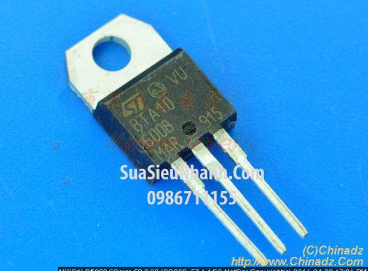 Tên hàng: BTA10-600B BTA10 TO220 TRIAC 10A 600V; Mã: BTA10-600B; Kiểu chân: cắm TO-220; Thương hiệu: NXP; Hàng tương đương: BTA10-600A, BTA10-600B, BTA10-600C; Phân nhóm: TRIAC