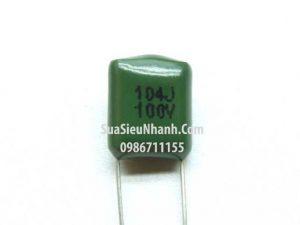 Tên hàng: Tụ CBB 104J 100V 0.1uF 100V 5mm;  Mã: CBB-104J100V