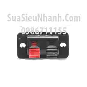 Tên hàng: Clip Kẹp dây loa 2 chân; Mã: Clip_Audio_2P; kích thước bảng: chiều dài chiều rộng L20.8MMxW44.7MM; Hai khoảng cách lỗ: 34.5MM Sửa Đường kính lỗ: 3.14MM