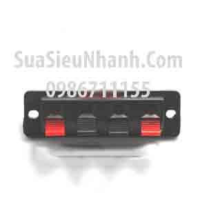 Tên hàng: Clip Kẹp dây loa 4 chân; Mã: Clip_Audio_4P; kích thước bảng: chiều dài chiều rộng L64.8MMxW19.7MM; Hai khoảng cách lỗ: 55MM Sửa Đường kính lỗ: 3.14MM