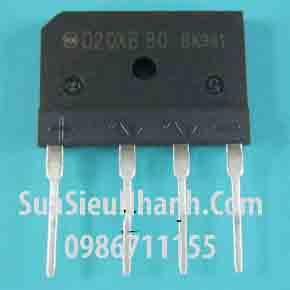 Tên hàng: D20XB80 Diode cầu chỉnh lưu 20A 800V; Mã: D20XB80; Kiểu chân: cắm; Dùng cho: Vật tư bếp từ