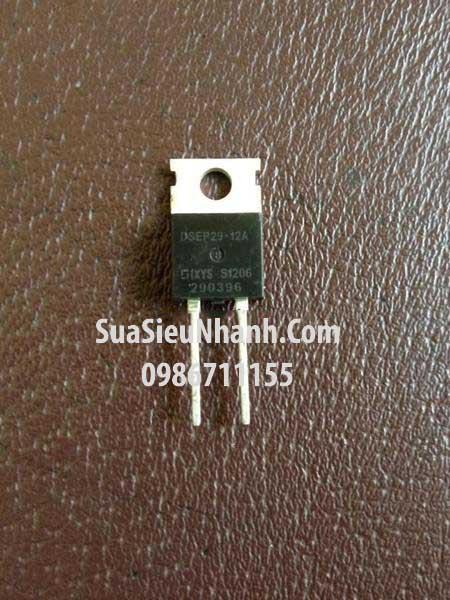 Tên hàng: DSEP29-12A Diode 30A 1200V; Kiểu chân: cắm TO220; Hàng tương đương: DSI30-16A