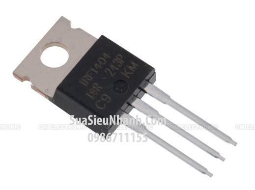 Tên hàng: IRF1404 L1404Z 1404 TO220 N MOSFET 162A 40V; Mã: IRF1404; Kiểu chân: cắm TO-220; Thương hiệu: IR; Dùng cho: Vật tư máy may