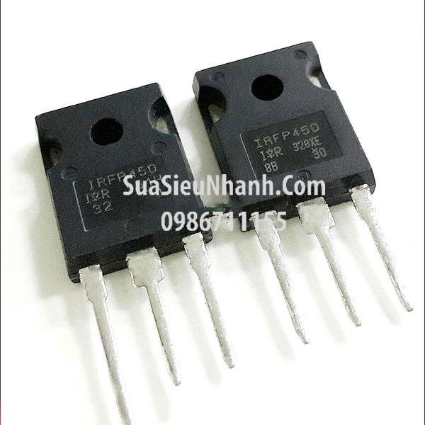 Tên hàng: IRFP450 IRFP450PBF N MOSFET 14A 500V; Kiểu chân: cắm TO-247; Hãng sx: IR; Mã: IRFP450