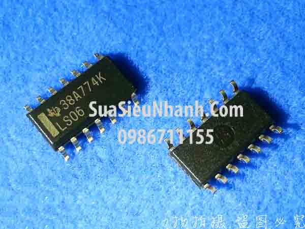 Tên hàng: LS06 74LS06 SN74LS06DR SOP-14 IC số; Mã: LS06; Kiểu chân: dán SOP-14; Hãng sx: TI; Tên hàng: LS06 74LS06 SN74LS06DR SOP-14 IC số; Mã: LS06; Kiểu chân: dán SOP-14; Hãng sx: TI;