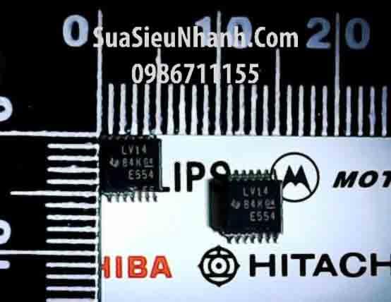 Tên hàng: LV14A SN74LV14PWR LV14 TSSOP14 IC Số; Kiểu chân: dán TSSOP-14; Hãng sx: TI;Tên hàng: LV14A SN74LV14PWR LV14 TSSOP14 IC Số; Kiểu chân: dán TSSOP-14; Hãng sx: TI;