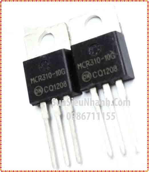 Tên hàng: MCR310-10G MCR310 TO220 Thyristor 10A 800V; Mã: MCR310-10G; Hãng sx: ON; Dùng cho: Vật tư máy may;