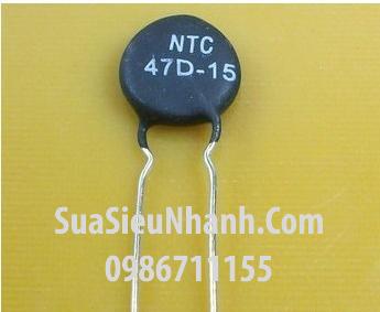 Tên hàng: NTC 47D-15 Trở nhiệt NTC 47R 15mm; Mã: NTC47D-15