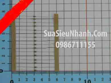 Tên hàng: Điện trở 10R 0.125W (10R 1/8W) sai số 5%; Mã: RES-10R0.125W