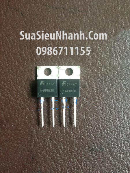 Tên hàng: RHRP8120 TO-220 Hyperfast Diode 8A 1200V; Mã: RHRP8120; Hãng sx: Faichild; Kiểu chân: TO-220-2
