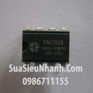 Tên hàng: SM7028 IC nguồn;  Kiểu chân: cắm DIP-8;
