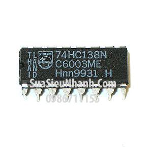 Tên hàng: 74HC138N SN74HC138N 74HC138 DIP16 IC số DECODER/DEMUX 3-8 LINE;  Mã: SN74HC138N;  Kiểu chân: cắm DIP-16;  Thương hiệu: TI;  Phân nhóm: IC Số>DECODER/DEMUX