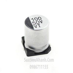 Tên hàng: Tụ nhôm dán 100uF 50V SMD 8x10mm