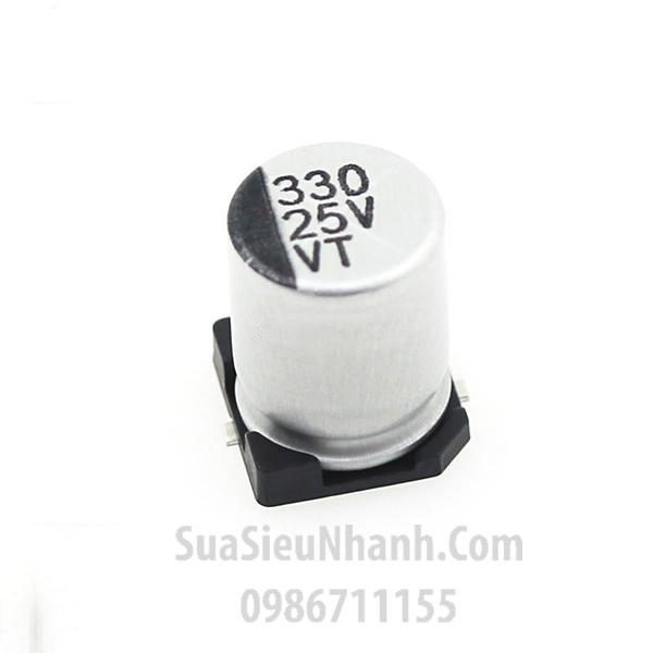 Tên hàng: Tụ nhôm dán 330uF 25V SMD 8x10mm