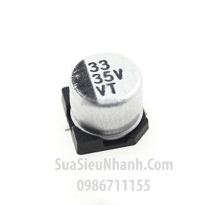 Tên hàng : Tụ nhôm dán 33uF 35V SMD 6.3x5.4mm