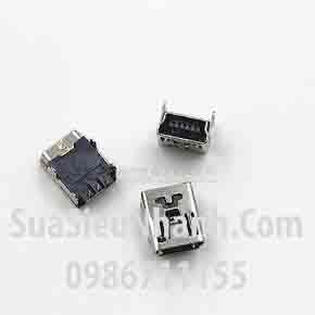 Tên hàng: USB 5PF Cổng mini USB 5PF loại cái, chân cắm hàn mạch;