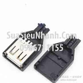 Tên hàng: USB-A Cổng USB A loại cái, hàn dây có vỏ nhựa