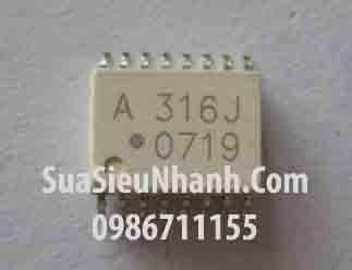 Tên hàng: HCPL-316J HP316J A316J SOP16 IC cách lý quang photo optocoupler; Mã: A316J; Kiểu chân: SOP-16; Thương hiệu: AVAGO; Dùng cho: vật tư biến tần, vật tư servo driver; Hàng tương đương: A316J, HCPL-316J, HCPL316J, HCPL-316J, HP316J SOP16