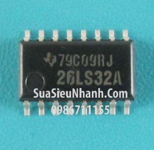 Tên hàng: AM26LS32A SOP16 5.2mm IC truyền thông Quad Receiver RS-422/RS-423;  Mã: AM26LS32A;  Hãng sx: TI;  Kiểu chân: dán SOP-16;  Hàng tương đương: AM26LS32, AM26LS32C