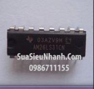 Tên hàng: AM26LS32ACN IC truyền thông Quad Receiver RS-422/RS-423; Mã: AM26LS32ACN; Hãng sx: TI; Kiểu chân: cắm DIP-16; Hàng tương đương: AM26LS32, AM26LS32N, AM26LS32A