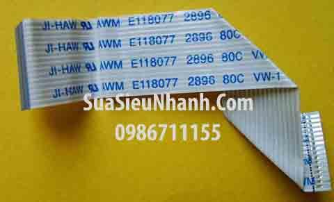 Tên hàng: SUMITOMO AWM 2896 80C VW-1 Cáp dẹt FFC 15 sợi; Mã: AWM_2896_VW-1_15_0.5; Thông số: Số sợi dây (số lõi): 15 sợi, tổng chiều chài: 650mm, tổng chiều rộng: 8mm, khoảng cách 2 sợi dây (2 lõi): 0.5mm, Hướng đầu cắm: Hướng A (hướng hai đầu cắm cùng mặt, cùng phía)