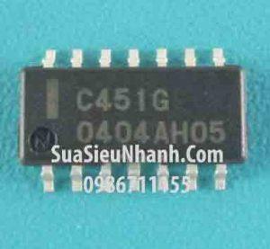 Tên hàng: C451G UPC451G2 SOP14 IC thuật toán;  Mã: C451G;  Kiểu chân: dán SOP-14 3.9mm;