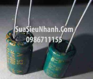 Tên hàng: Tụ hóa 680uF 25V 680uF 10x17mm;  Mã: CAPP680uF25V;  Thương hiệu: SANYO