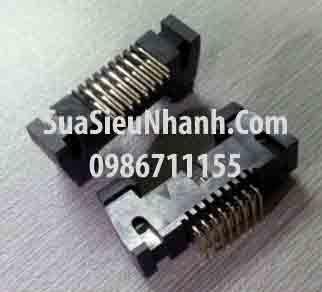 Tên hàng: DC2-14P IDE14P Box header 7x2p 2.54mm đực thẳng, có kẹp (só sừng); Mã: DC2-14P_S; Hàng tương đương: IDE 14; Mã kho: DC2-14P_S_GOO