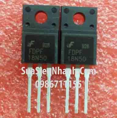 Tên hàng: FDPF18N50 18N50 TO220 N MOSFET 18A 500V 265mΩ; Mã: FDPF18N50; Hãng sx: Faichild; Kiểu chân: cắm TO-220