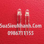 Tên hàng: LED vàng phi 3mm đơn outdoor siêu sáng; Mã: LDP3Y-3VO