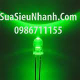 Tên hàng: LED xanh lá phi 5mm đơn outdoor;  Mã: LDP5G-3VO